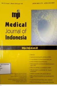 Image of Jurnal Kebidanan Tahun 2016 ; Medical Journal Of Indonesia Vol.25, Issue 1