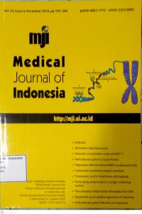 Image of Jurnal Kebidanan Tahun 2016 ; Medical Journal Of Indonesia Vol.25, Issue 4