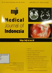 Image of Jurnal Kebidanan Tahun 2015 : Medical Journal Of Indonesia Vol. 24 Issue 4